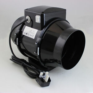 5quot in line mixed flow bathroom air extractor fan for Plug in bathroom exhaust fans