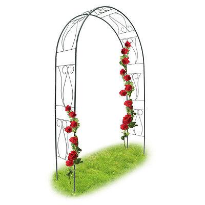 Rankhilfe Rosen Bogen Kletterpflanzen Metall pulverbeschichteter stabiler Stahl