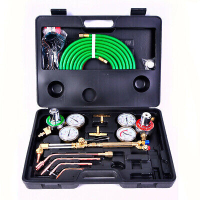 Gas Welding Cutting Kit Oxy Acetylene Oxygen Torch Brazing Fits Victor Whose Us