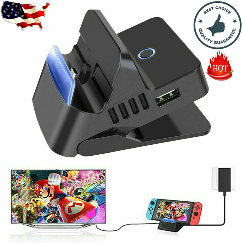 New Portable Charging Dock Stand HDMI TV Docking Station For Nintendo Switch US