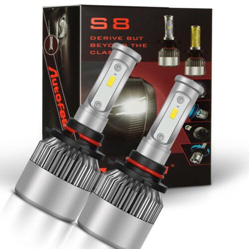 2PC 80W 6000k White 9006 High Power LED Headlight Bulbs Light Conversion Kit