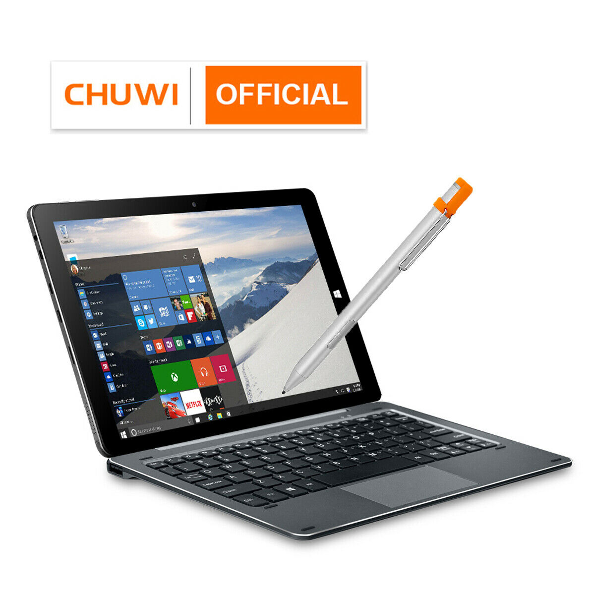 "Laptop Windows - CHUWI Hi10 X Intel N4120 Quad Core 6+128G Tablet/Laptop 2 in 1 Windows 10.1"" FHD"