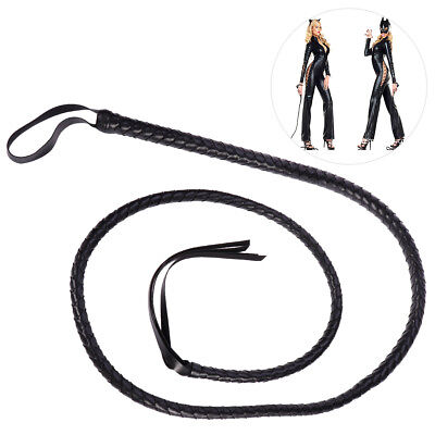 1.6m Adult Long Bull Whip Indiana Cowboy Cat Woman Costume Fancy Dress - Costume Whip