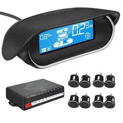 Park Sensor - 8 Parking Sensors LCD Car Auto Backup Reverse Rear Radar System Alert Alarm Kit