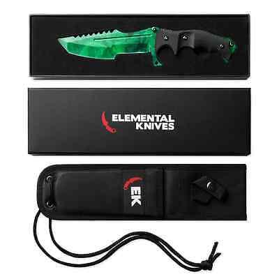 Elemental Knives Emerald Real Huntsman Csgo Knife Skin Counter Strike Cs