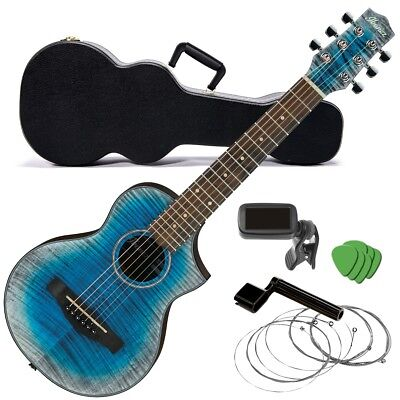 Ibanez EWP32FM Piccolo Acoustic Guitar - Glacier Blue COMPLETE GUITAR BUNDLE