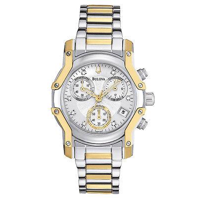 Bulova Women's 98P120 Wintermoor Quartz Two Tone Chronograph Bracelet 32mm Watch