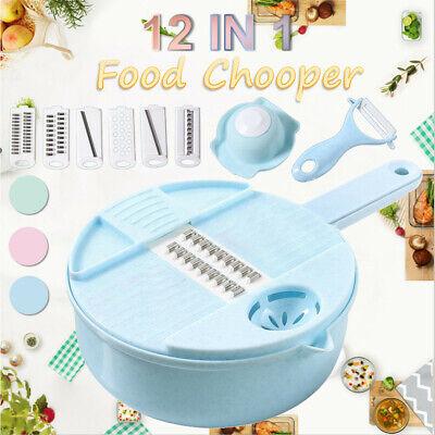 12 IN 1 Multi-function EASY FOOD CHOPPER Mandoline Vegetable