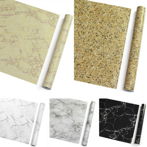 Vinyl Marble Self Adhesive Wallpaper Wall Stickers Kitchen C