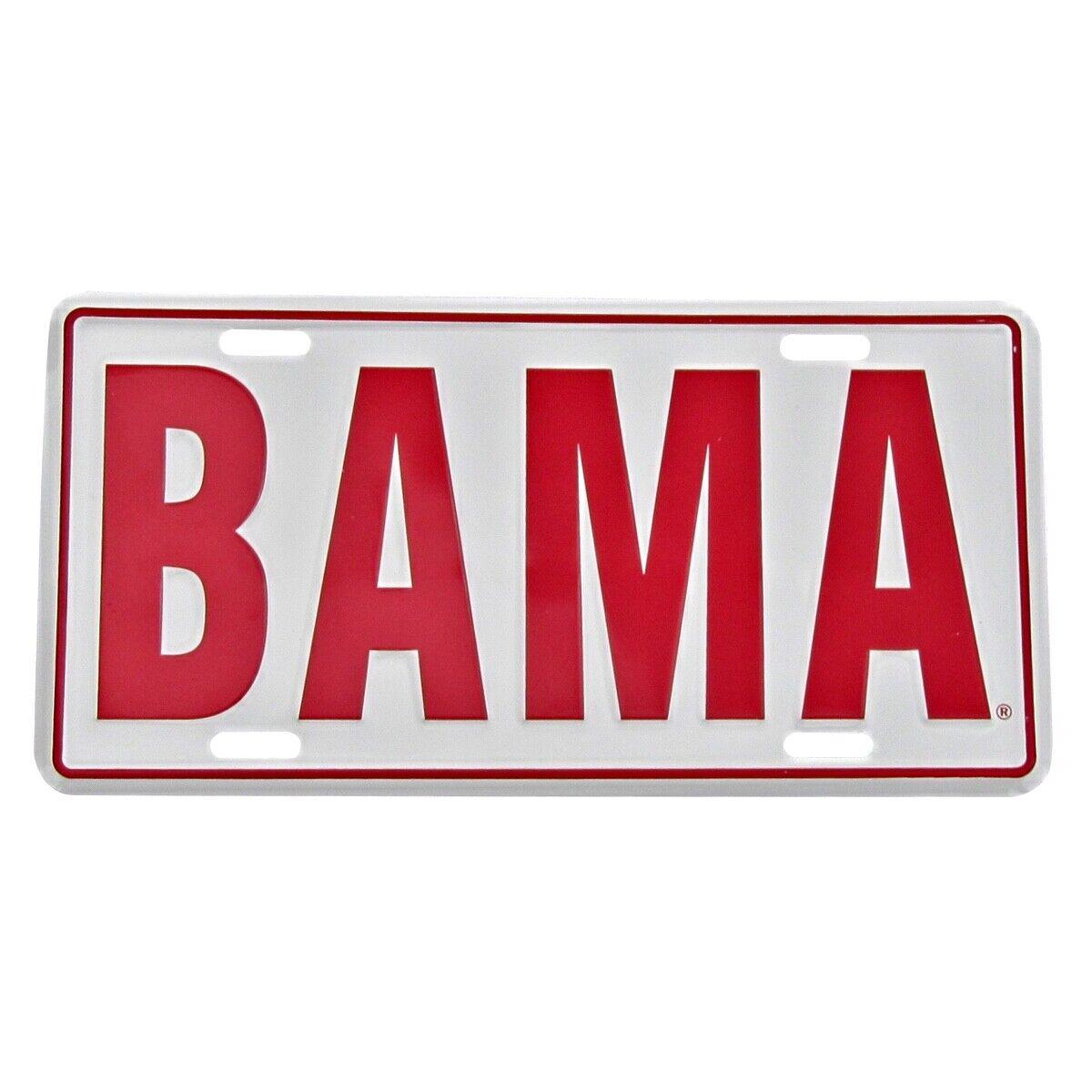 Bama aluminum license plate university of alabama crimson tide ua car truck tag