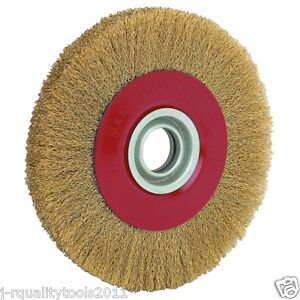 8 Inch Round Brass Plated Steel Wire Brush Wheel For Bench