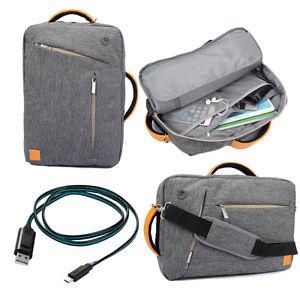 Gray Backpack Messenger Bag for Alienware ALW17-8751sLV 17.3-Inch Laptop +Cable