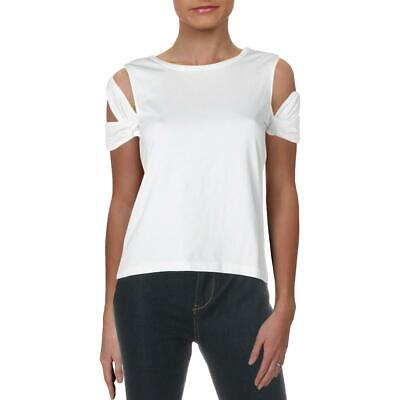 Helmut Lang Womens White Cut-Out Pullover Tee T-Shirt Top S BHFO 5300