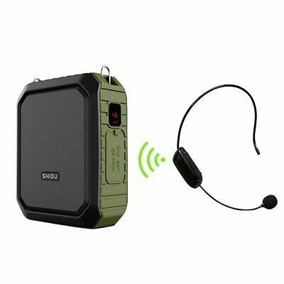Portable Lavalier Lapel Collar Clip-on Wireless Microphone Voice Amplifier M8E3