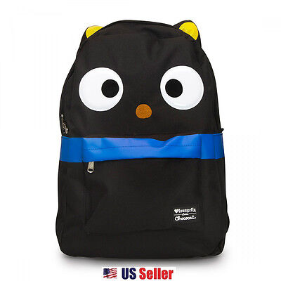 """Loungefly x Choco Cat CHOCOCAT Large Face 17.5"""" School Backpack with 3D Ears"""