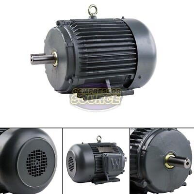 5 Hp 3 Phase Electric Motor 1800 Rpm 184t Frame Tefc 230460 Volt Severe Duty