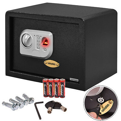 14 Biometric Fingerprint Electronic Digital Wall Safe Box Keypad Lock Security