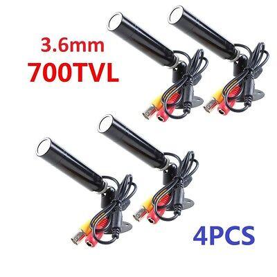 QTY4PCS Mini Bullet 3.6mm In/Outdoor Weatherproof Security CCTV Camera Outdoor Mini Bullet