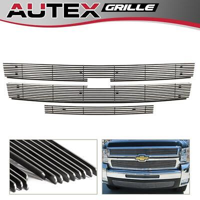 Chrome Billet Grille Combo for 07-10 Chevy Silverado 2500HD/3500HD Upper+Air Dam