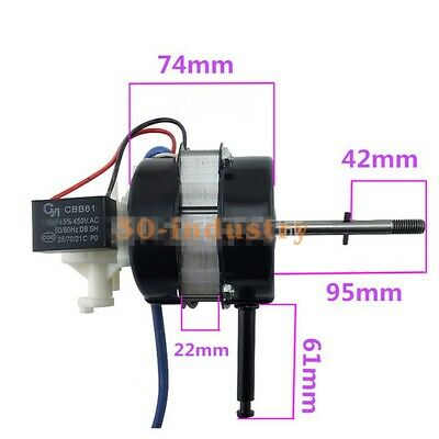 For Double Ball Bearing Electric Fan Motor Motor 22p Extended Shaft Universal