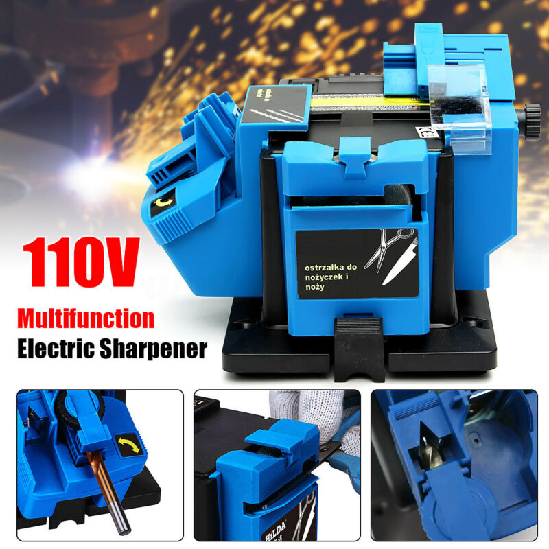 110V 96W Electric Grinder Multifunction Sharpener Grinding Drill Tool 1350 rpm