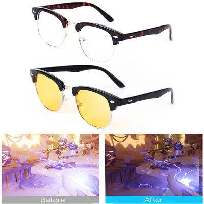 Gaming Glasses Blue Light Blocking Retro Computer Phone Eyewear Laptop for - Lighted Glasses