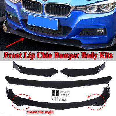 Universal Front Bumper Lip Body Kit Spoiler Wing For Honda BMW Audi Benz Toyota ](Black Angle Wings)