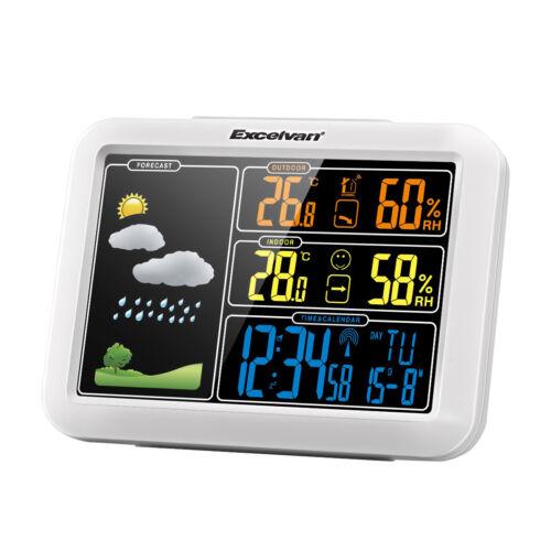 Funk Wetterstation Kabellos Farbdisplay Haus Thermometer Außensensor Temperatur