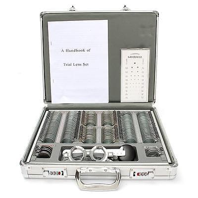 1pcs 158 Trial Lens Set Optical Trial Lens Case Alu. Case 38mm Shiny Metal Rim