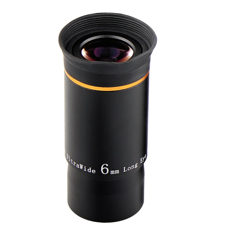 """SVBONY 1.25"""" Ultra Wide Angle Eyepiece Lens 6mm 66°Multi-coated For Telescope US"""