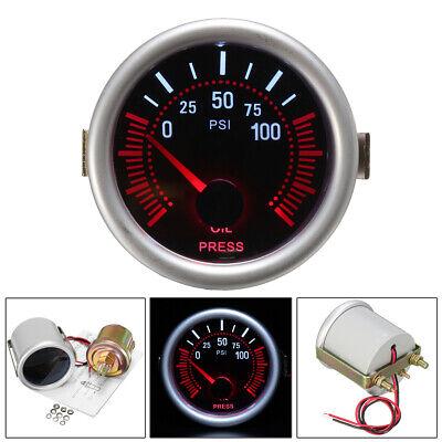 Universal 2'' inch 52mm Car LED Pointer Oil Press Pressure Meter Gauge Meter 12V