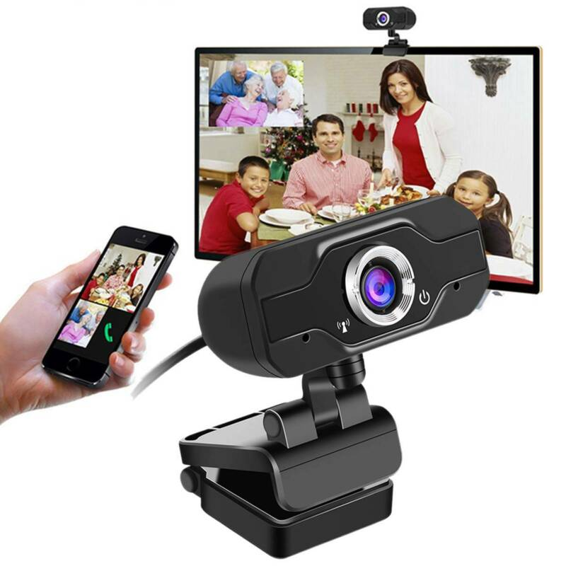 Neu USB 720P HD Webcam Web Cam Kamera Mikrofon für Computer PC Laptop Desktop DE