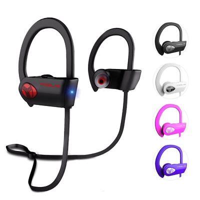 TREBLAB XR500 Bluetooth Headphones Best Wireless Sports Earbuds IPX7 (Best Waterproof Wireless Headphones)