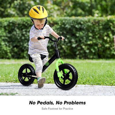 "12"" Kids Balance Bike No Pedal Child Training Bicycle w/ Adjustable Seat Black"