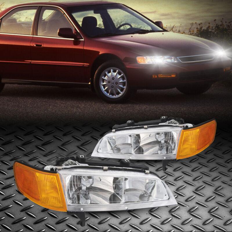 For 1994-1997 Honda Accord Headlight Lamp Assembly Pair LH & RH Sides