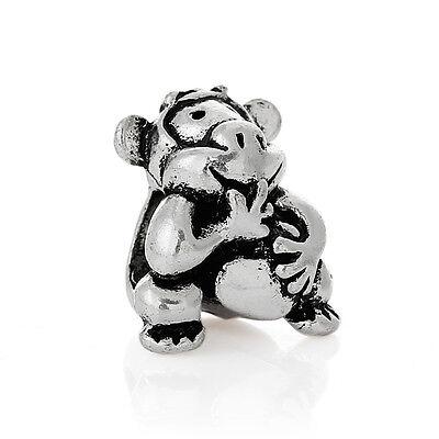 Monkey Animal Charmadillo Spacer Bead for Silver European Style Charm Bracelets](Monkey Charm)