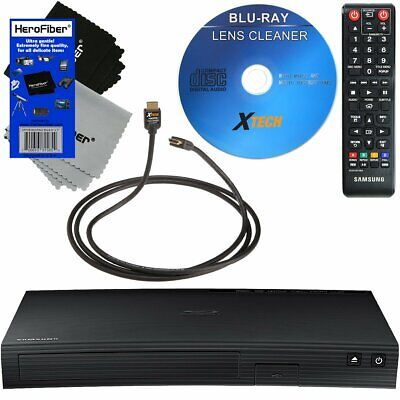 Samsung Smart Blu Ray DVD Player with Built-In Wi-Fi & 250 +Apps +Cleaner +HDMI