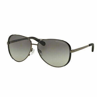 Michael Kors Women's Chelsea Polarized Sunglasses Silver Grey Gradient Lens