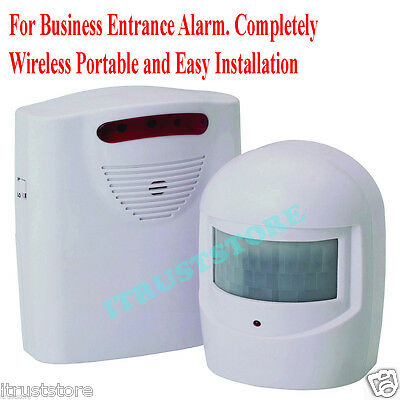 Business Store Door Entrance Entry Alarm Chime Bell Wireless Motion Activated