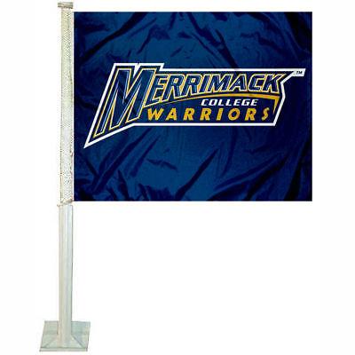 Merrimack College Car Auto Window Flag