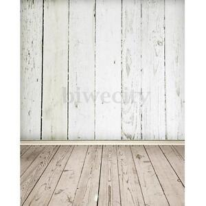 3X5FT White Wood Wall Floor Studio Photo Photography Background Backdrop