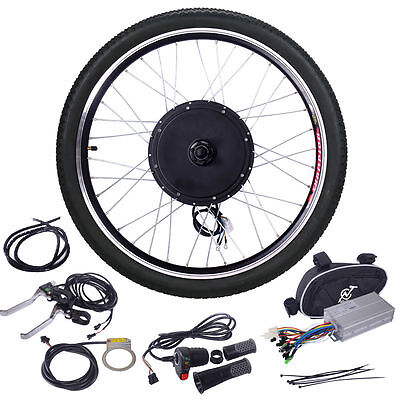 """48V Ebike 26""""Cycling Electric Bicycle Motor Conversion hub Kit Front Wheel 1000W"""