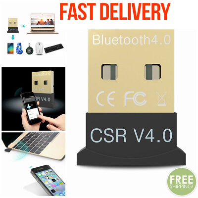 USB Bluetooth V4.0 3.0 Wireless Mini Adapter Dongle for PC Win 7 8 10 MZ