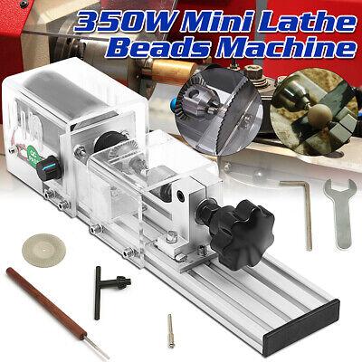 350w Mini Lathe Beads Machine Wood Working Diy Lathe Polishing Drill