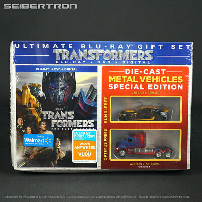 Transformers Last Knight Blu-ray + DVD + Digital +2 Die-Cast Metal Vehicles 2017