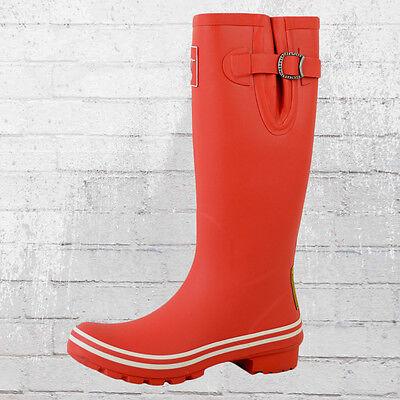 Plain Wellies (Evercreatures Damen Gummistiefel Plain Red And White rot weiß Wellies Wellington)