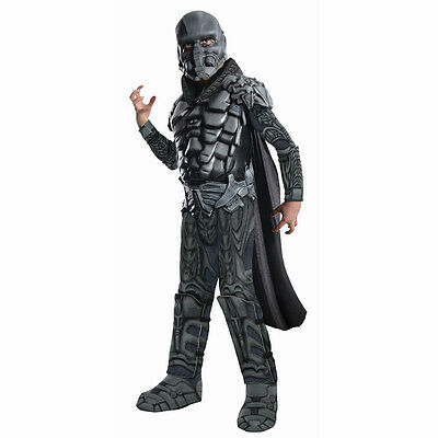 Man Of Steel Zod Kostüme (Man of Steel Superman General Zod Deluxe Child Muscle Costume Rubies 886896)