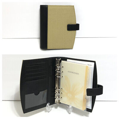 Franklin Covey 365 Compact Planner Open Binder Organizer 6 Ring Beige Extras