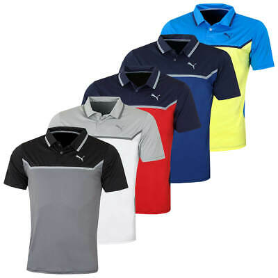 Puma Golf Mens Bonded Tech Short Sleeve Performance Polo Shirt Top 54% OFF RRP