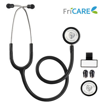 Dual Head Medical Stethoscope Turntable Chestpiece Soft Eartips 28 Inch Us Stock